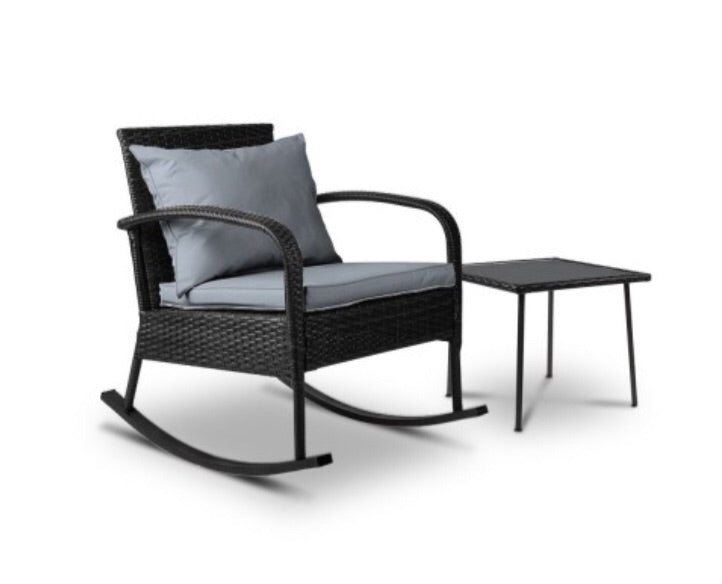 Rocking chair set - Black & Grey