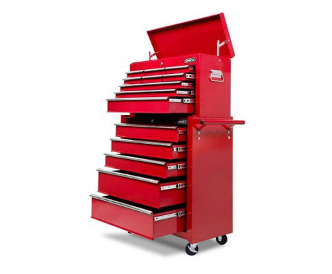 14-drawer trolley - Red