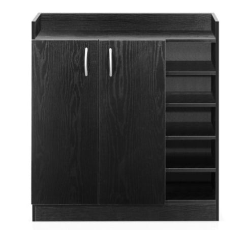 Wooden Cabinet with 2 Doors Black
