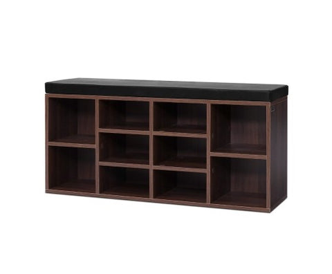 10 pair shoe cabinet bench