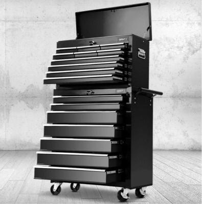 2-in-1 Tool Storage (Chest and Trolley) - 17 drawer