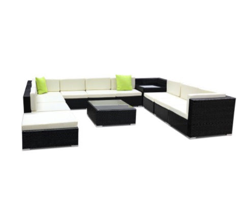 12 piece wicker sofa set