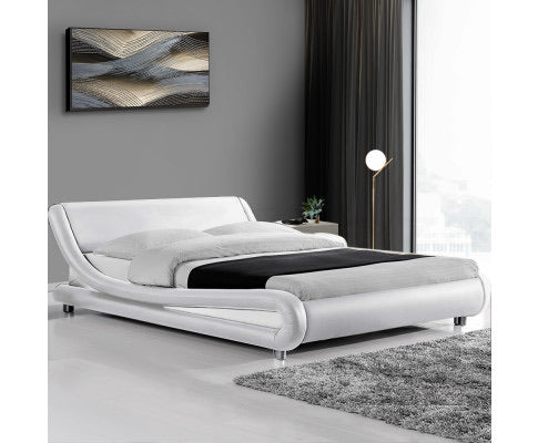 Stylish Bed Frame -Queen - White