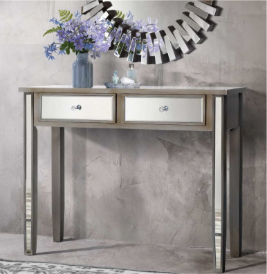 Mirrored Console Hallway Table With Drawers