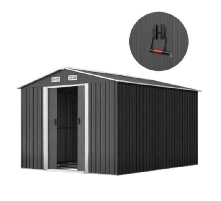 Garden Shed Workshop Shelter Metal Tool 2.6x3.9x2M