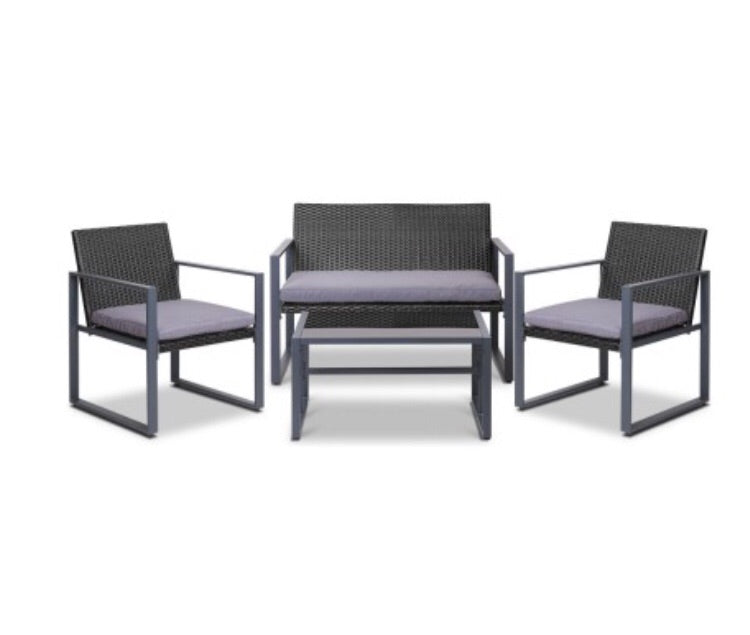Wicker outdoor furniture - Black