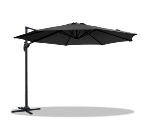 360 ° rotatable outdoor umbrella - Black