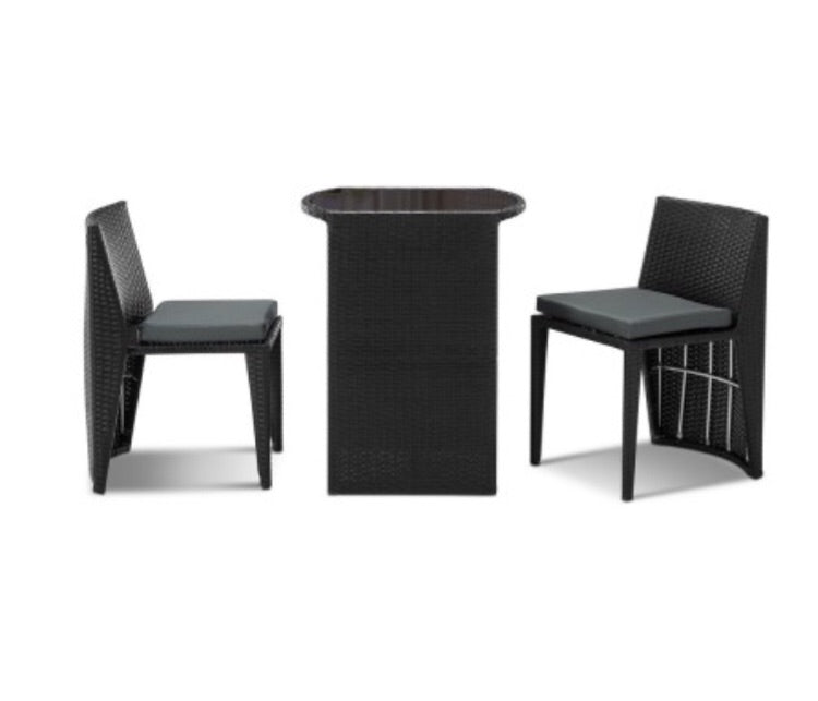 Space-saver 3 piece PE Wicker