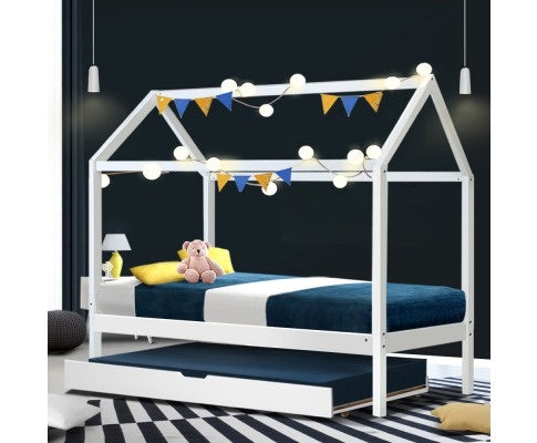 Solid Pine Children Bed - White