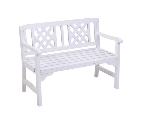Fir wood bench - White