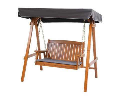 Fir wood swing chair - Teak - 165cm