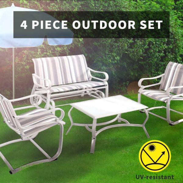 Outdoor Furniture 4 Piece With Swing Chair