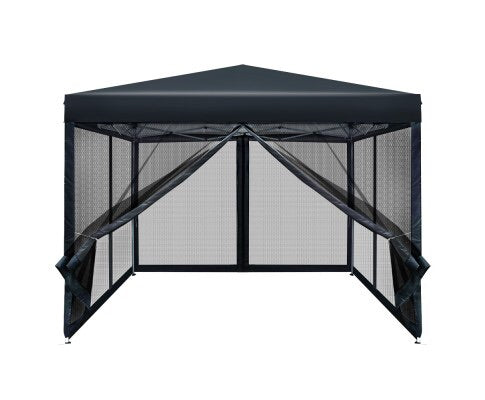 Instahut 3x3m Pop Up Gazebo - Black