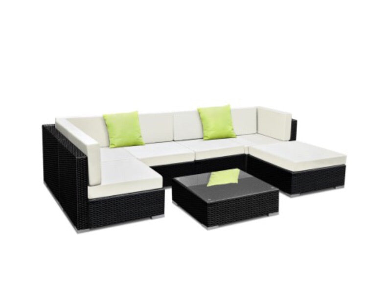 7 piece outdoor wicker sofa set