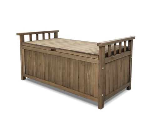 Fir wood Storage Box Bench - Brown