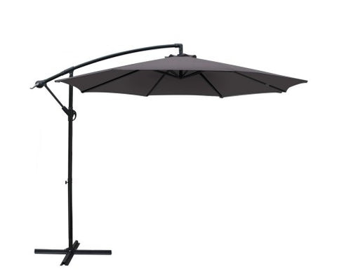 Cantilevered Outdoor Umbrella - Charcoal