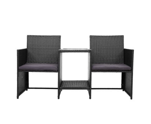 Loveseat Wicker outdoor - Black