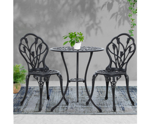 Vintage appeal 3-piece Bistro Set cast - 3 color