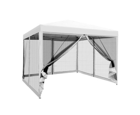 Instahut 3x3m Pop Up Gazebo - White