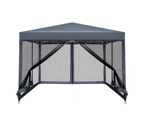 Instahut 3x3m Pop Up Gazebo - Grey