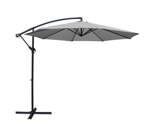 Cantilevered Outdoor Umbrella - Grey