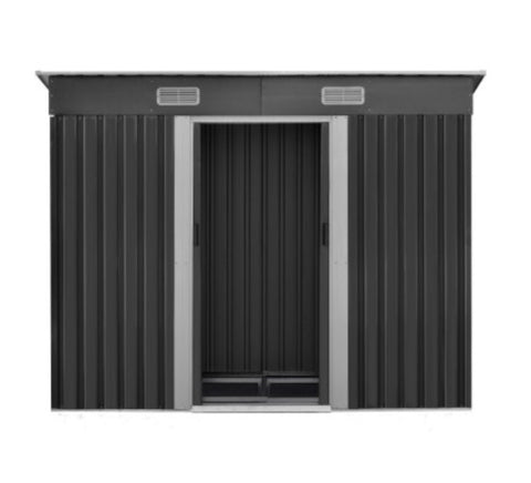 2.35 x 1.31m Steel Base garden shed