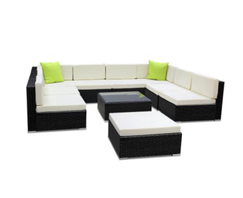10 piece wicker sofa set