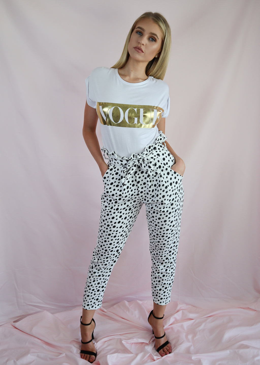 Black & White Polka Pants