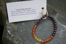 Load image into Gallery viewer, Intentional Healing Lower Chakra Gemstone Bracelet
