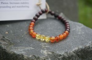 Intentional Healing Lower Chakra Gemstone Bracelet