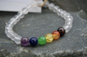 Intentional Healing Rainbow Pride Gemstone Bracelet