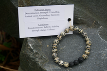 Load image into Gallery viewer, Intentional Healing Dalmatian Jasper Gemstone Bracelet
