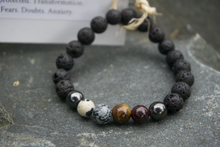 Load image into Gallery viewer, Intentional Healing Grounding Gemstone Bracelet
