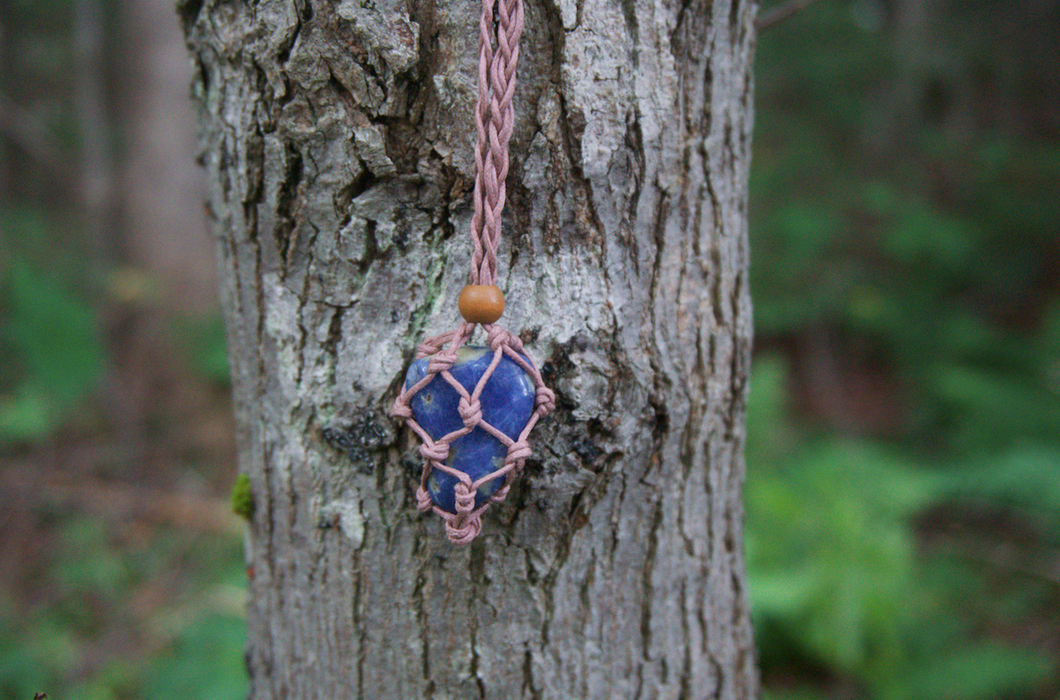 Intentional Healing Sodalite Macrame Necklace