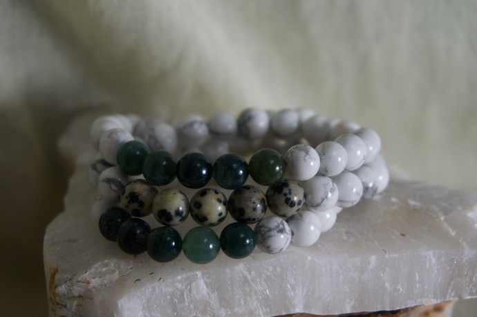 Intentional Healing Triple Stack Bracelet Necklace Duo