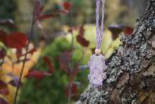 Load image into Gallery viewer, Intentional Healing Selenite Macrame Necklace