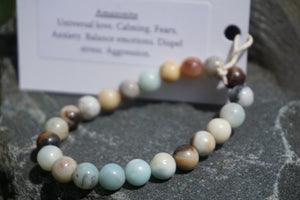 Intentional Healing Amazonite Gemstone Bracelet