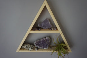 Large Feather and Arrow Crystal Shelf