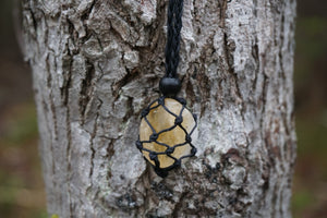Intentional Healing Citrine Macrame Necklace