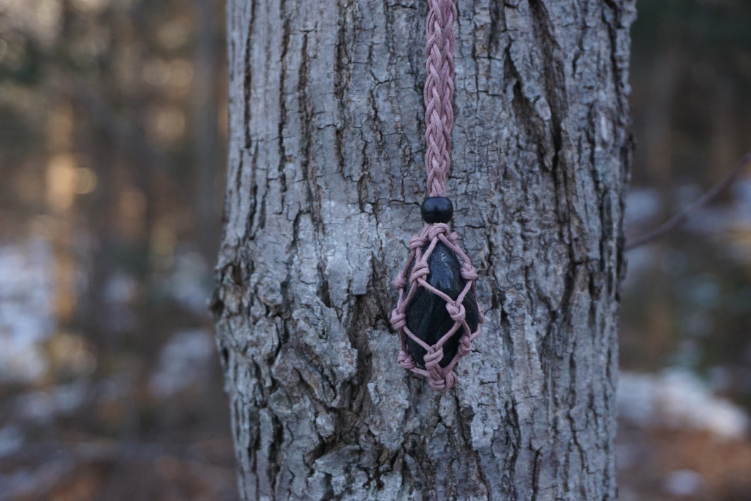 Intentional Healing Tourmaline Macrame Necklace