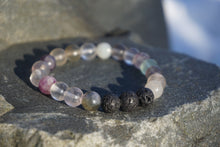 Load image into Gallery viewer, Intentional Healing Fluorite Gemstone Diffuser Bracelet
