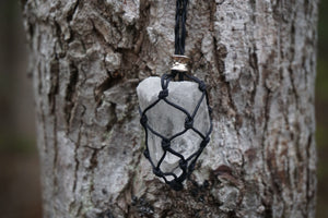 Intentional Healing Clear Quartz Macrame Necklace