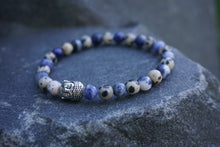 Load image into Gallery viewer, Intentional Healing Sodalite and Dalmatian Jasper Gemstone Bracelet
