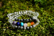 Load image into Gallery viewer, Intentional Healing Chakra Labradorite Gemstone Necklace/Triple Stack