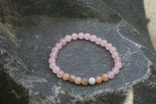 Load image into Gallery viewer, Intentional Healing Rose Quartz Moonstone Gemstone Bracelet