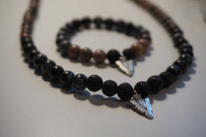 Trauma Warrior Intentional Healing Triple Stack Necklace