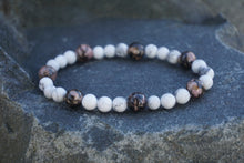 Load image into Gallery viewer, Intentional Healing Rhodonite and Howlite Gemstone Bracelet