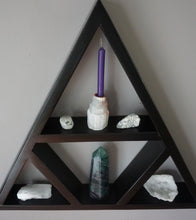 Load image into Gallery viewer, Large Four Triangle Crystal Shelf