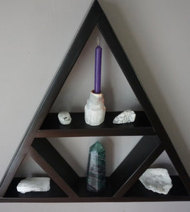 Large Four Triangle Crystal Shelf