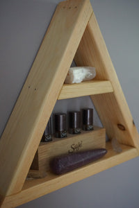 Small Triangle Crystal Shelf